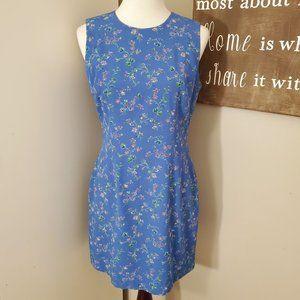 Laundry By Shelli Segal Blue Floral Sheath Dress